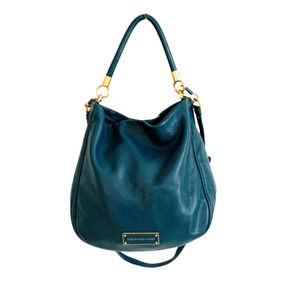 Marc Jacobs Teal Pebbled Leather Satchel Bag